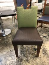 chair_dining_brown_seat_green_back_front_of_chair