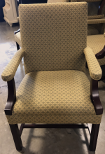 chair_yellow_with_green_design_front