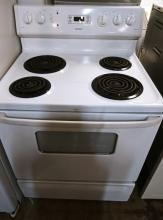 White Hotpoint Electric Range