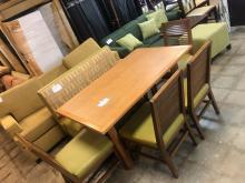 Table with Booth and 4 Chairs $149